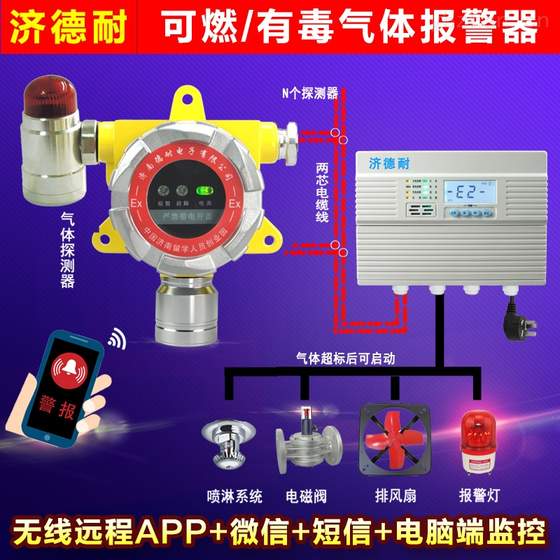 焦化厂焦炉煤气泄漏报警器,远程监测