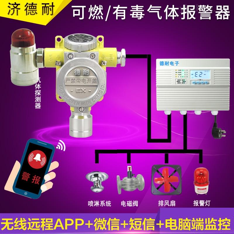 工业罐区汽油泄漏报警器,可燃气体报警器