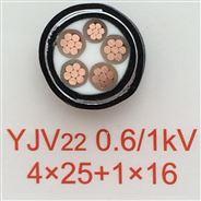 鎧裝電力電纜YJV22-3*70+2*35