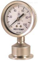 SG系列美国REOTEMP带三相夹具连接卫生压力表