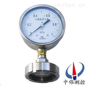 YTP-100MH-卫生型隔膜式压力表