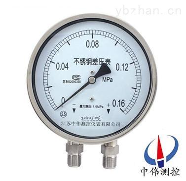 YW-150B不锈钢差压压力表