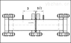 LG-煤氣除塵DN300徑距取壓差壓式孔板流量計