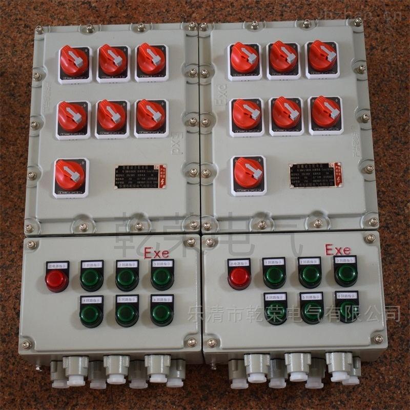 电机防爆箱 电机热保护防爆动力配电箱