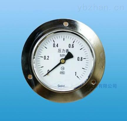 YNC-表盤軸向前帶邊壓力表