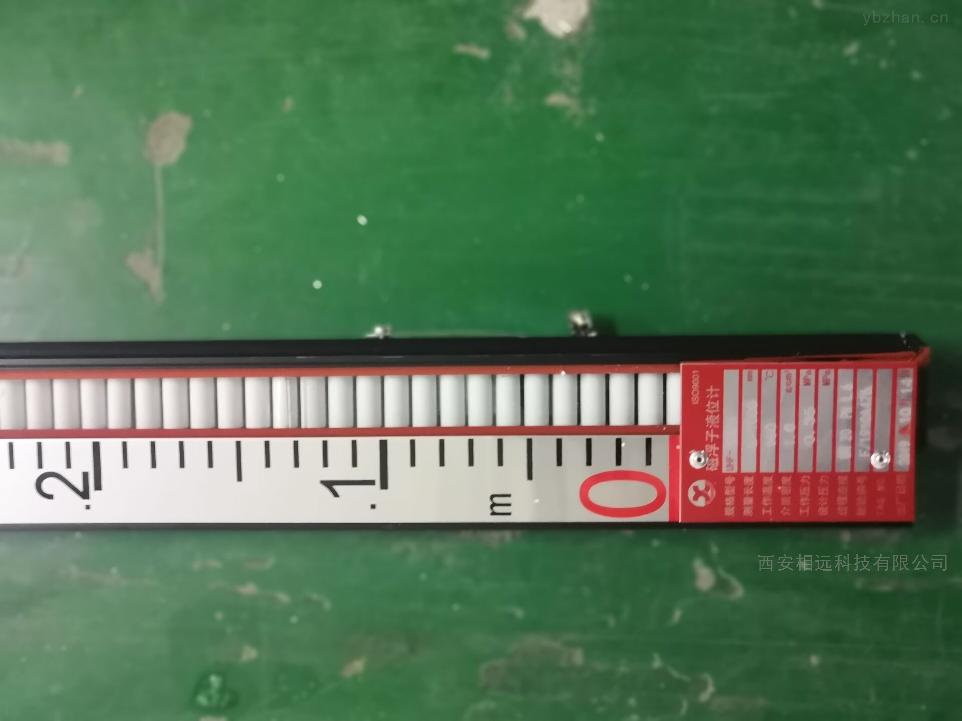 陜西磁浮子液位計刻度尺面板