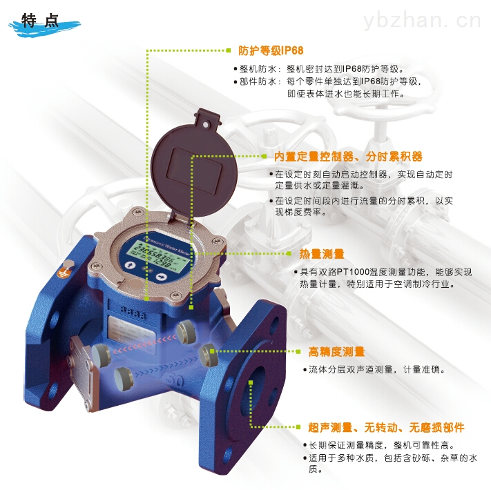 浙江溫州TDS-100超聲波雙聲道電子遠傳水表