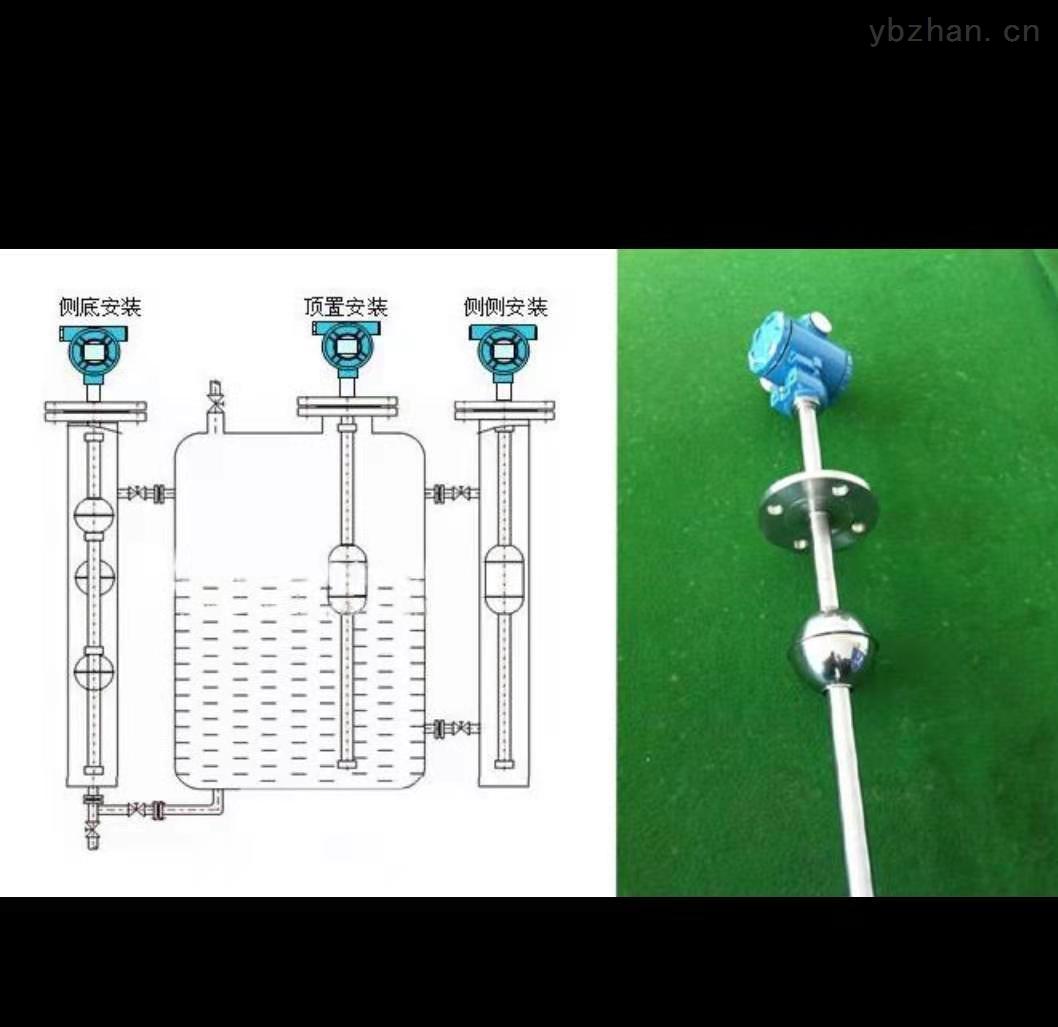 防腐蚀顶装式浮球液位变送器