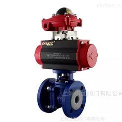 VT2BDF33A化学气体衬氟球阀 进口气动衬氟切断阀厂家