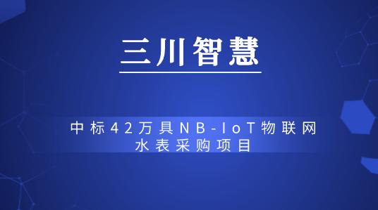 三川智慧中标42万具NB-IoT物联网水表采购项目