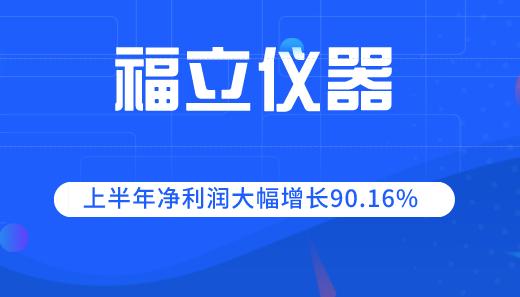 福立儀器2019上半年凈利潤大幅增長90.16%