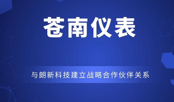 苍南仪表与朗新科技建立战略合作伙伴关系