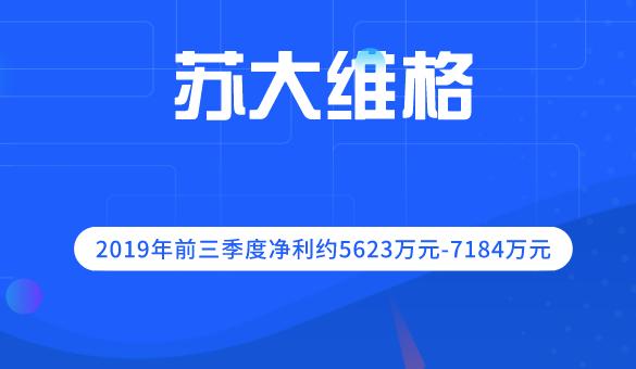 苏大维格2019年前三季度净利约5623万元-7184万元