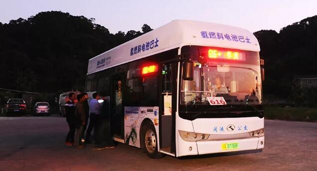 福建首批氢能公交车用上氢气传感器